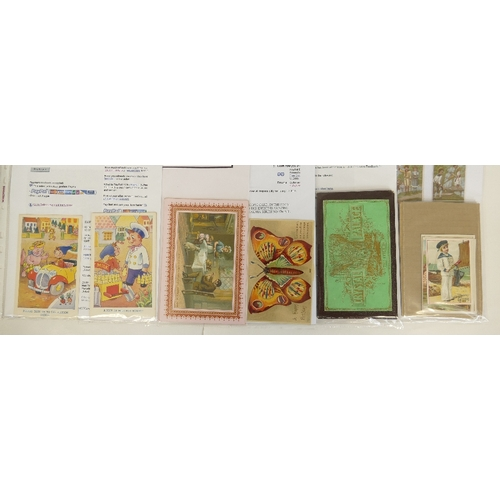176 - Vintage Noddy Postcards, early last century Christmas Card, five Victorian Christmas Cards of boys i...