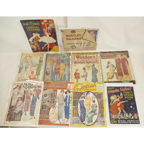 177 - A quantity of Embroidery / Sewing related booklets, together with a Huntley and Palmers Christmas Bi...