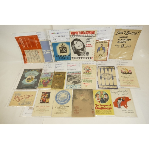 181 - Large quantity of LEAFLETS / BOOKLETS including - About Television by Phyllis Ladyman by Brock Books...