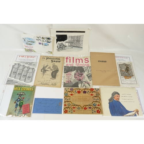 185 - A mixed collection of LEAFLETS / BOOKLETS / EPHEMERA etc including - The James Cycles Co. Birmingham...
