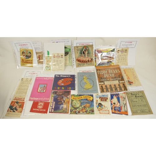 186 - A collection of mid century advertising and promotional material  LEAFLETS / BOOKLETS  etc., includi...
