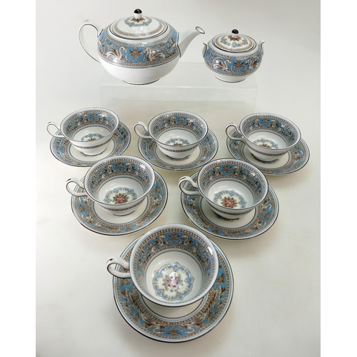 203 - Wedgwood Florentine pattern part tea set (14 pieces)...