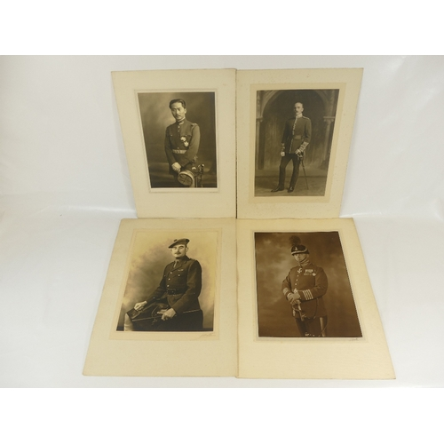 22 - Four unidentified Lafayette military portraits - all large specimen originals, signed Lafayette to f...