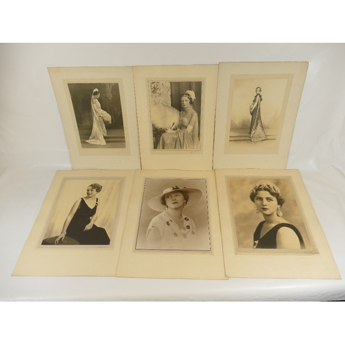 31 - Six large Lafayette studio Photographs - Grand Duchess of Hesse, Mrs Charles Palmour, Mary Rooke, La...