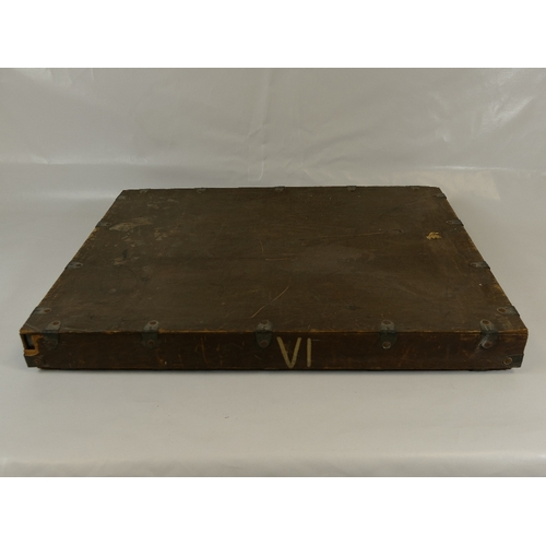 33 - An original LAFAYETTE archive specimen metal bound and wooden crate....