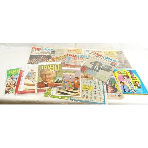 45 - Magazines Comics and Annuals x nineteen.  ATV Television Star Book x 2, Radio One annual, TV Comic 1...