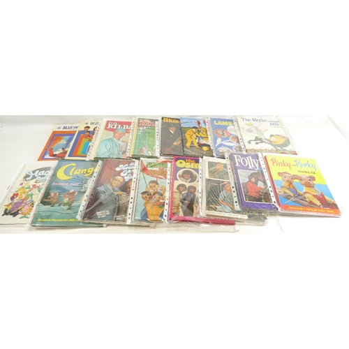 46 - Annuals x nineteen. Tingha and Tucker, Animal Land, Skippy the Bush Kangaroo, Follyfoot 1973, Pinky ...