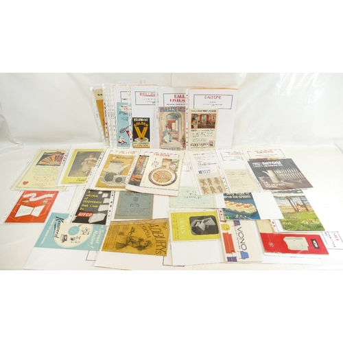 58 - LEAFLETS AND BOOKLETS, HOUSEHOLD AND ADVERTISING x 28 1950'-70's. Including - Robertsons official Go...