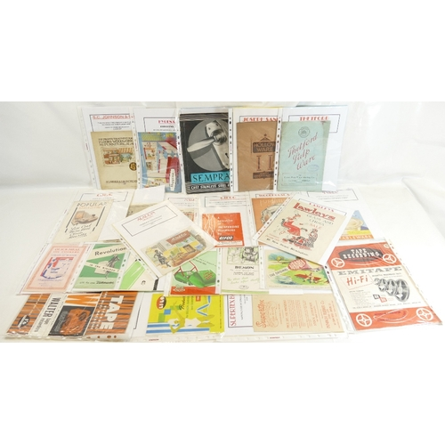 59 - HOUSEHOLD LEAFLETS AND CATALOGUES x 22 - mainly 1940's and 50's.  Aladdin Heaters, Pyrex, Lawleys, T...
