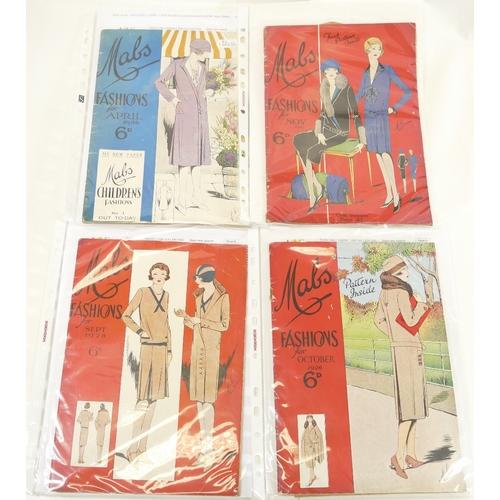62 - MABS FASHION MAGAZINES vintage 1926-1928 x 4....