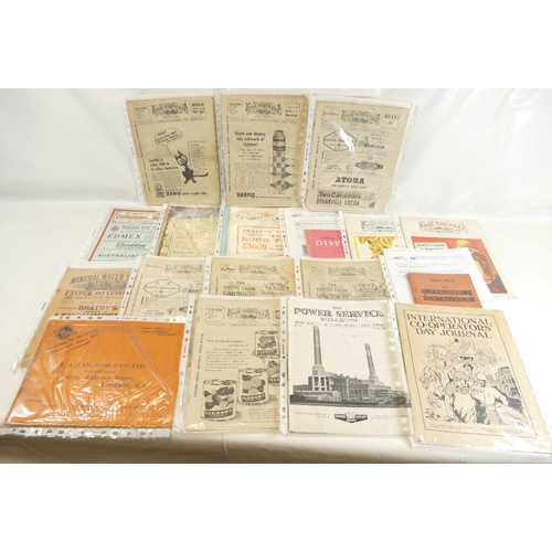 67 - A large quantity of trades catalogues including - E A Langrish - Everything for the Cinema Theatre a...
