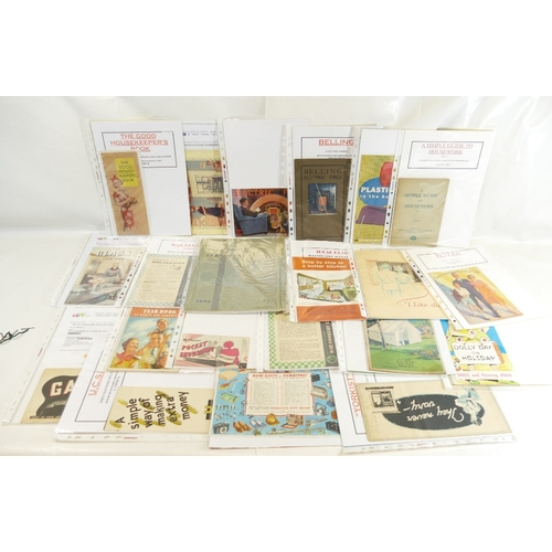 68 - House and Homewares BOOKLETS AND CATALOGUES x 31 including - Gas in your Home, Good Housekeepers boo...