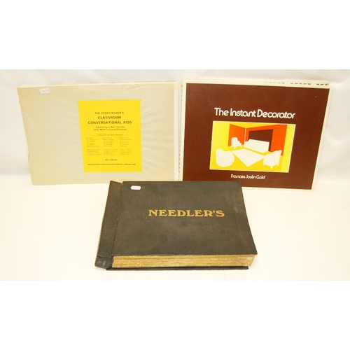 74 - Three large volumes including - a Salesmans display catalogue / brochure of box designs for NEEDLER'...