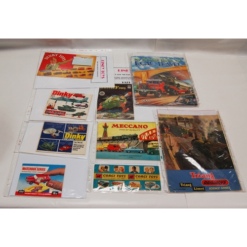 79 - A collection of vintage BROCHURES and LEAFLETS including - Dinky Toys 1940's and 1970's (3) Meccano,...