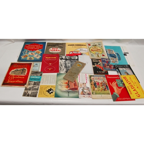 82 - A collection of vintage BROCHURES MAGAZINES and LEAFLETS including - Alliance Assurance Company Pros...