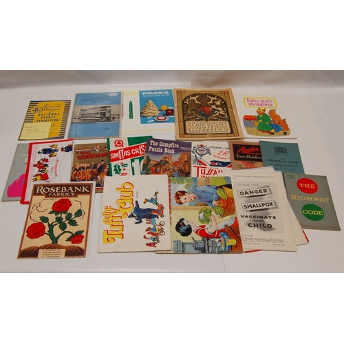83 - A collection of vintage BROCHURES MAGAZINES and LEAFLETS relating to social / medical / trades etc. ...