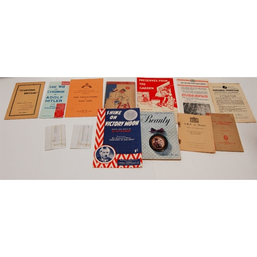88 - A collection of vintage WAR related PAMPHLETS, BOOKLETS AND LEAFLETS and other items to include - I'...