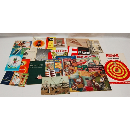 89 - A collection of vintage HOUSEHOLD related PAMPHLETS, BOOKLETS AND LEAFLETS etc. including - Aladdin,...