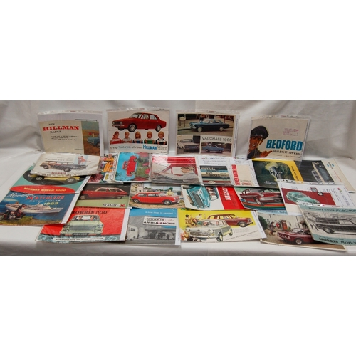 92 - A collection of vintage advertising CAR related PAMPHLETS, BOOKLETS AND LEAFLETS -  Morris Power Plu...