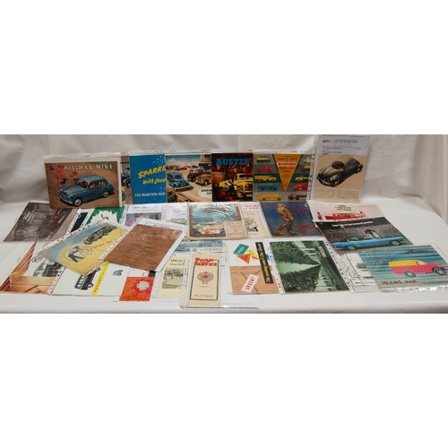96 - A collection of early vintage advertising CAR and Leisure related PAMPHLETS, BOOKLETS AND LEAFLETS -...