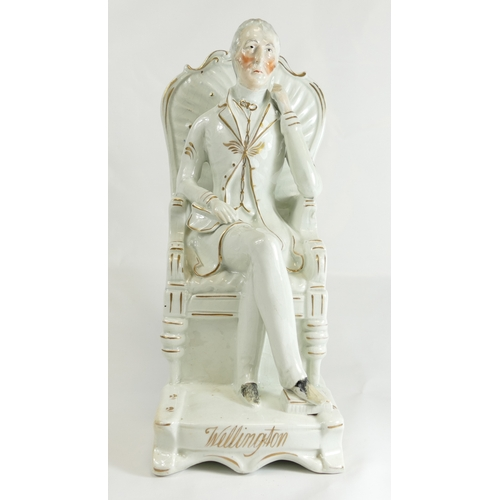 313 - Wellington large Staffordshire figure, 30cm....