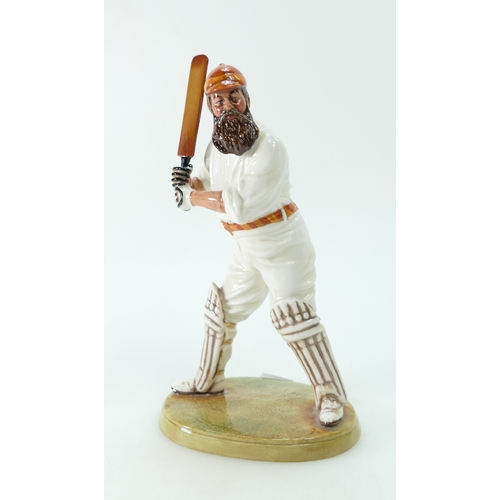 413 - Royal Doulton Character figure W.G.Grace HN3640, limited edition with certificate, early variation w...