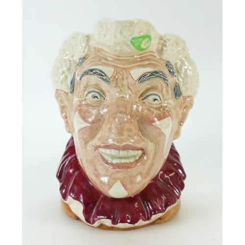 432 - Royal Doulton large character jug White Haired Clown D6322...