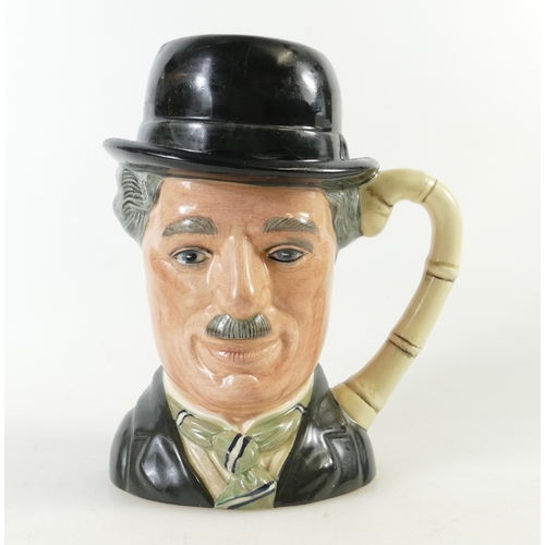 448 - Royal Doulton large character jug Charlie Chaplin D6949, limited edition...