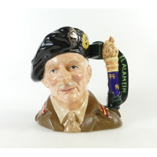 452 - Royal Doulton large character jug Field Marshall Montgomery  D6908, limited edition...