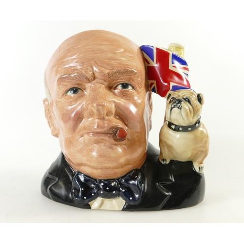 453 - Royal Doulton large character jug Winston Churchil D6907, limited edition jug of the year 1992...
