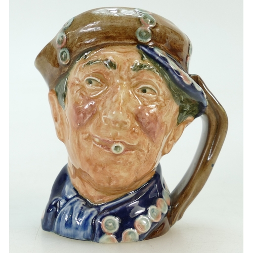457 - Royal Doulton rare small character jug blue Pearly Boy with opaque buttons...
