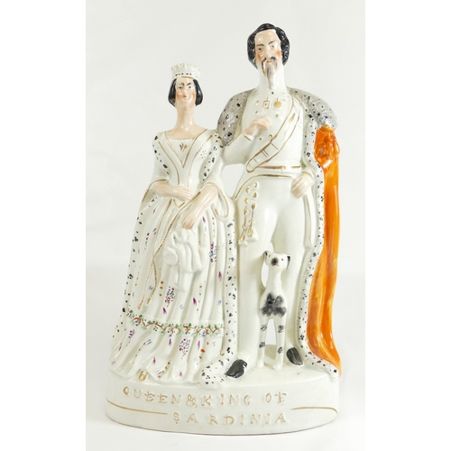 336 - Queen Victoria with the King of Sardinia on the occasion of his state visit to England....