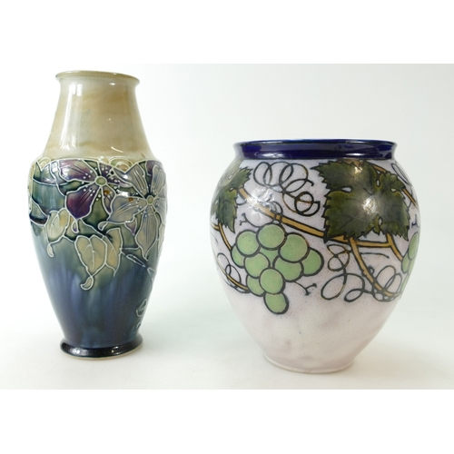355 - Two attractive Royal Doulton Lambeth stoneware vases in Secessionist style, circa 1920 (2)...