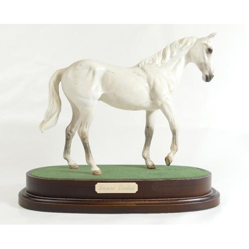 377 - Royal Doulton Desert Orchid white horse on base...