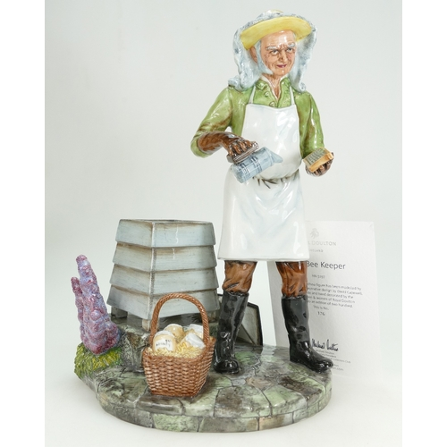 383 - Royal Doulton prestige figure The Bee Keeper HN5197, height 30cm, limited edition with certificate...