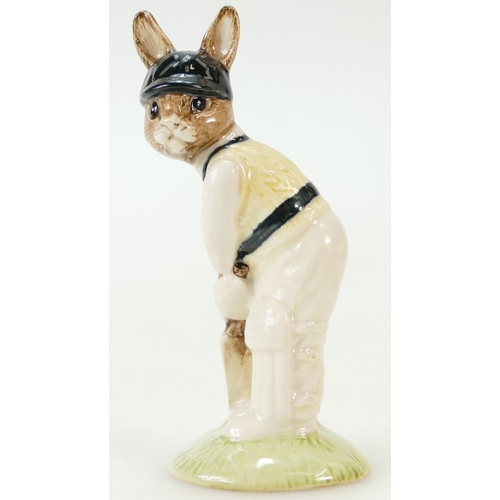 419 - Royal Doulton Bunnykins figures Batsman DB144, Britannia DB219 and Punch DB234, both limited edition...