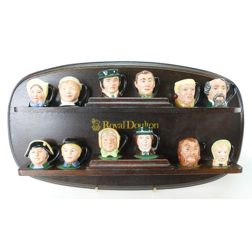434 - A collection of Royal Doulton Charles Dickens tiny Commemorative character jugs to include David Cop...