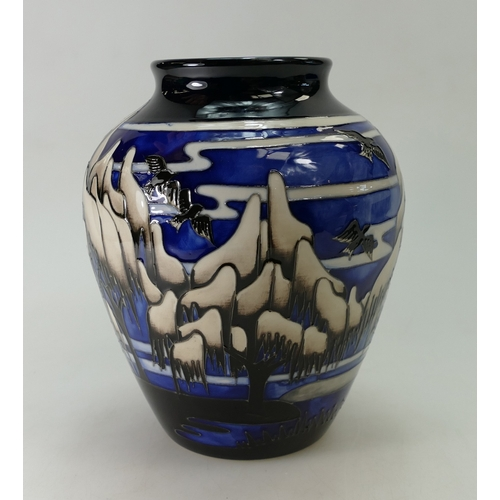 508A - Moorcroft Weeping Willow vase. Limited Edition 34/50, designed by Helen Dale. Height 20cm. 1st in Qu...