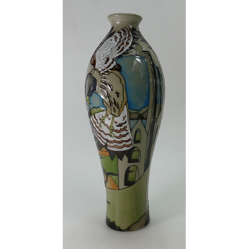 516A - Moorcroft The Stone Kestral vase, Limited Edition 43/50. Signed by designer Vicky Lovatt. Height 30....