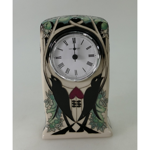 518A - Moorcroft clock in the Talwin design by Nicola Slaney. Shape CL1. 1st in quality...