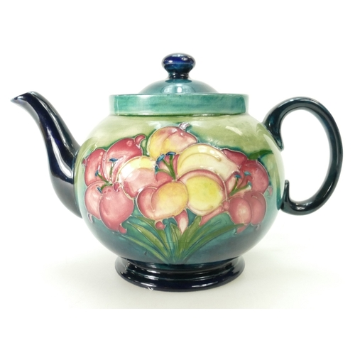 529 - Moorcroft Teapot decorated in the Freesia design, height 15.5cm...
