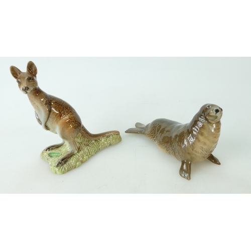 571 - Beswick Kangaroo 2312 together with a Beswick Seal 1534 (2)...