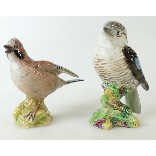 596 - Beswick model of a Jay 2417 together with a Kookaburra 1159 (2)...