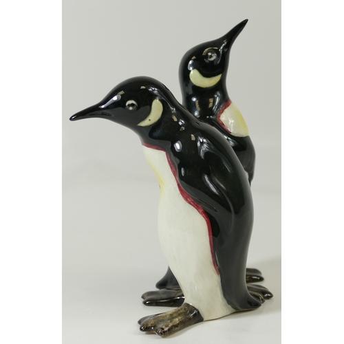 599 - Beswick Courting Penguins (1 beak A/F) 1015...