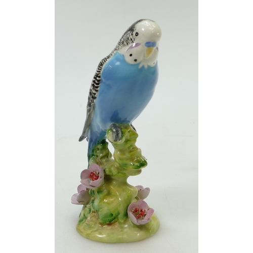 600 - Beswick Blue Budgie 1217, first version with flowers to base...