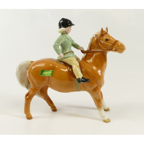 628 - Rare Beswick Girl on Palomino pony 1499...