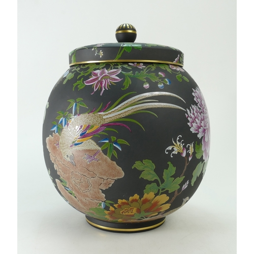 721 - A prestige Distinguished House of Wedgwood Pot Pourri Vase & Cover. Hand Painted in encaustic enamel...