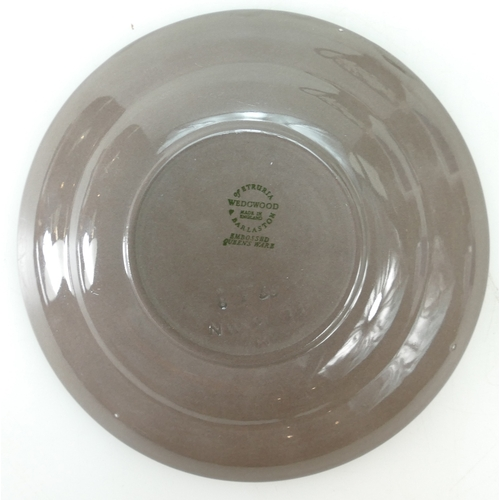 731 - Wedgwood Norman Wilson Brown Aventurine Glaze Teacup  & Saucer, Napoleon Ivy Borders, circa 1958, ma...