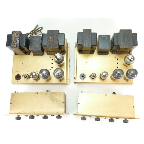 744 - A pair of Leak TL/10 Point One Valve Power Amplifier with two Point One Preamplifier (4)...