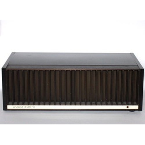 756 - Quad 405-2 Power Amplifier. Serial Number 66645. 100 Watts per channel. Fully working with power cab...